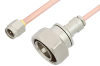 SMA Male to 7/16 DIN Male Cable 36 Inch Length Using RG402 Coax -- PE36171-36 -Image