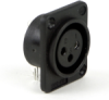 PD Series Female Plastic Housing - PC Panel Mount -- PD3FRL1