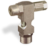 "(Formerly B1630-10X-TP), Inverted Angle Small Sight Feed Valve, 1/4"" Male NPT Inlet, 1/4"" Female NPT Outlet, Tamperproof -- B1628-343B1TW -Image"