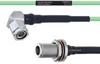 Temperature Conditioned Low Loss RA TNC Male to N Female Bulkhead Cable LL160 Coax in 18 Inch -- FMHR0217-18 -Image