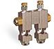 "Multiple Sight Feed Valve, 2 Valves, 1/8"" Female NPT Inlet, (2) 1/8"" Female NPT Outlets -- YB4689-02 (Formerly B3150-2-S04) -Image"