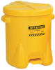 10-Gallon Polyethylene Oily Waste Can -- CAN108-YELLOW