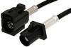 Black FAKRA Plug to FAKRA Jack Cable 24 Inch Length Using PE-C100-LSZH Coax -- PE38748A-24 -Image