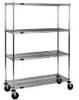 Wire Shelving Stem Caster Carts -- CC2448C-S