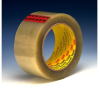 3M Scotch 351 Clear Standard Box Sealing Tape - 72 mm Width x 50 m Length - 3.4 mil Thick - 72319 -- 021200-72319 - Image