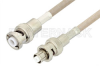 MHV Male to SHV Plug Cable 12 Inch Length Using RG141 Coax , LF Solder -- PE34413LF-12 -Image
