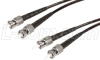62.5/125, Military Fiber Cable, Dual ST / Dual ST, 2.0m -- FODSTMIL-02