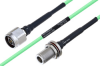 Temperature Conditioned N Male to N Female Bulkhead Low Loss Cable 24 Inch Length Using PE-P160LL Coax -- PE3M0220-24 -Image