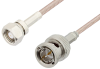 75 Ohm SMC Plug to 75 Ohm BNC Male Cable 24 Inch Length Using 75 Ohm RG179 Coax, RoHS -- PE33586LF-24 -Image