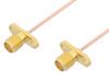 SMA Female 2 Hole Flange to SMA Female 2 Hole Flange Cable 36 Inch Length Using PE-047SR Coax -- PE35064-36 -Image