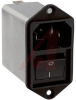 AC LINE FITLERS WITH ON/OFF SWITCH, 2 POLE, 6A STANDARD -- 70080746 - Image