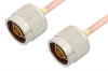 N Male to N Male Cable 18 Inch Length Using RG402 Coax, RoHS -- PE3827LF-18 -- View Larger Image