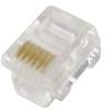 6C Modular Data Plug, 100pcs. -- 83-066 - Image