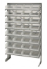 Bins & Systems - Clear-View Bins - Economy Shelf Bins - Sloped Shelving - Single Sided Pick Racks - QPRS-107CL - Image