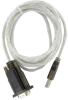 1ft USB to Serial RS232 DB9 Adapter with Screw -- UB30-40-S - Image
