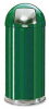 Roundtop Metal Trash Can with Plastic Liner -- GPR422-GREEN