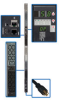 3-Phase Monitored PDU, 5.8 kW, 45 total outlets (208V: 36 C13, 6 C19 and 120V: 3 5-15/20R), 6 ft. Cord, NEMA L21-20P input, 0U vertical mount, TAA Compliant -- PDU3VN6L2120