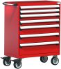 Heavy-Duty Mobile Cabinet, with Partitions -- R5BEE-3801 -Image