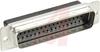 AMPLIMITE HDP-20 Plug, 50 Position, Front Metal Shell, Crimp Snap -- 70041347 - Image