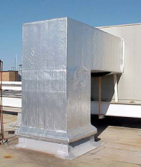 Aluminum, vapor-barrier insulation jacketing
