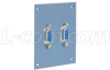 Universal Sub-Panel, 2 DB9 Feed-Thru Adapters -- USP2DB9FB