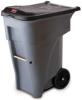 Rubbermaid BRUTE® 65-Gallon Rollout Container with Lid - 9W21 (Gray) -- RM-9W21GRA
