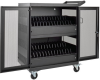 32-Device AC Charging Station Cart for Chromebooks and Laptops, Wall-Mount Option, Black -- CSC32AC