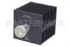 Medium Power 50 Watts RF Load Up To 8 GHz With 7/16 DIN Female Input Square Body Black Anodized Aluminum Heatsink -- PE6218 -Image