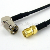 RA SMA Male to SMA Female Cable RG-174 Coax in 12 Inch -- FMC0413174-12 -Image
