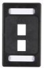 CAT6a F/UTP Faceplate, Single-Gang, 2-Port, Black -- WPF459 - Image