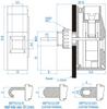 Terminal Blocks, Printed Circuit Board Blocks, Panel Mount -- MPT-610-D