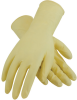PIP Cleanteam 100-323010 Off-White Large Latex Disposable Cleanroom Gloves - Class 10 Rating - Rough Finish - 12 in Length - 616314-16400 -- 616314-16400