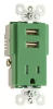 Combination Switch/Receptacle -- TR5261USB-GN -- View Larger Image