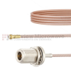 Snap-On MMBX Plug to N Female Bulkhead Cable RG316 Coax in 18 Inch -- FMCA1423-18 -Image