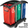 Rubbermaid 9T92 Triple Capacity Cleaning Cart -- RM-9T92