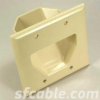 2-Gang Recessed Low Voltage Cable Plate -- 1018-SF-51
