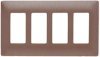 Decorative Finish Screwless Wall Plate, Brushed Copper -- SWP264BC