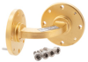 WR-22 Waveguide H-Bend with UG-383/U Flange Operating from 33 GHz to 50 GHz -- PEW22B100 - Image