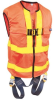 Delta Vest Reflective Orange Workvest Harness w/ Quick Connect Legs -- CAPSAF-111158