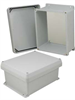 10x8x5 Inch UL® Listed Weatherproof NEMA 4X Enclosure w/Non-Metallic Mounting Plate, Corner Screws -- NBC100805-KIT01 -Image