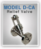Inline Relief Valve with Isolating Venting Chamber -- Model D-CA