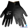 Global Glove PUG17 Black 3XL Nylon Full Fingered Work & General Purpose Gloves - Polyurethane Palm Only Coating - Individually Wrapped - Smooth Finish - PUG17 3XL -- PUG17 3XL