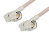 SMA Male Right Angle to SMA Male Right Angle Cable 24 Inch Length Using 75 Ohm RG179 Coax, RoHS -- PE3858LF-24 -Image