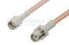 SMA Male to SMA Female Cable 12 Inch Length Using RG316-DS Coax, RoHS -- PE3171LF-12 -Image