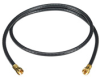 TV Coax Cable (RG-6) with Screw-On Connectors, Black, 6-ft. (1.8-m) -- EJ203-0006