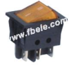 Double-poles Rocker Switch -- IRS-202-3A ON-ON - Image