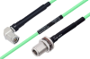 Temperature Conditioned TNC Male Right Angle to N Female Bulkhead Low Loss Cable 60 Inch Length Using PE-P142LL Coax -- PE3M0172-60 -Image