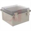 Enclosure; ABS/PC Blended Plastic; Polycarbonate Cover; Clear; NEMA -- 70148564