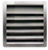 Louver,Intake,18-24 In,Aluminum -- 4F952