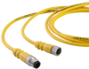 Dual Key Micro-Link Cable Assembly, PUR Braided, Male/Female, 6 pole, 12', 22 AWG -- 406K0120AK -- View Larger Image